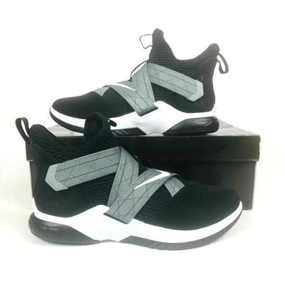 Nike Lebron Soldier XII 12 SFG AO4054-004 BLACK//WHITE//GREY NEW